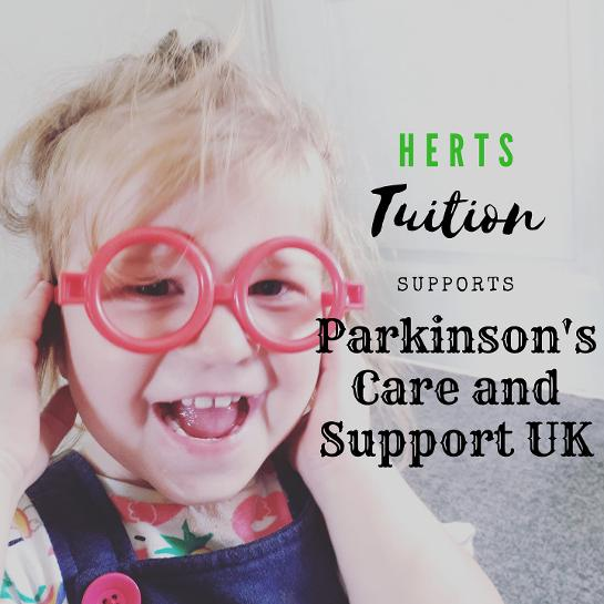 Herts Tuition supports Parkinsons Care and Support UK